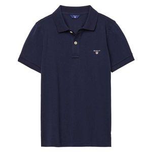 Gant Herren Kurzarm Poloshirt Original Pique Rugger, Größe:3XL, Farbe:Blau(433)