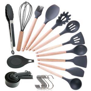 22 Stück/set Silikon Küchenutensilien Küchenset Kochbesteck Küchenhelfer Pfannenwender