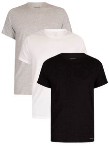 Calvin Klein Herren 3er Pack Lounge Crew T-Shirts, Mehrfarbig L