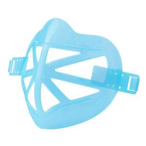Waschbar 3D Gesicht Maske Unterstützung Rahmen Staubdicht Maske Halter Innen 13x10cm Blau