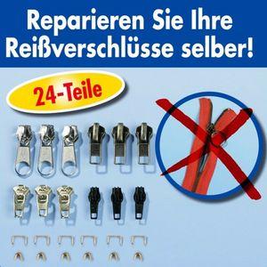 Reißverschluss Reparatur Set 24 Teilig Zipper Schieber Metall Reparaturset