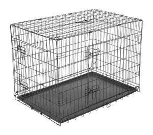 PawHut Transportkäfig Drahtkäfig Hundebox Hunde Käfig Metall zusammenklappbar