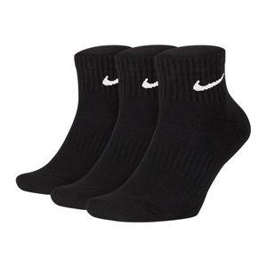 Nike U Nk Everyday Cush Qtr 3Pr Black/White Black/White M