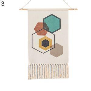Boho Baumwolle Leinen Quaste Wandteppich h?ngen Anh?nger Bild Home Hotel Wanddekoration 3 #