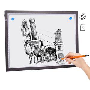 A3 Magnetisches LED-Lichtpad Artcraft Tracing Light Box Tracer-Kopierplatine USB-betriebene Helligkeit Dimmbar fš¹r Kš¹nstler Zeichnen Skizzieren Animation Entwerfen Tattoo DIY Diamantmalerei