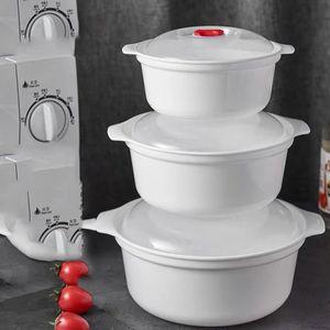 Mikrowellentopf mit Deckel Behälter Topf Set Dampftopf Mikrowellengeschirr