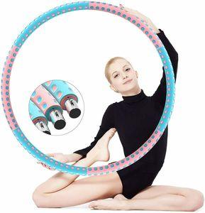 Hula Hoop Reifen Fitnessreifen mit Schaumstoff 94CM Freie Gewichtszunahme (1-6 kg) Edelstahlkern