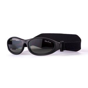 IdolEyes BabyWrapz - Babysonnenbrille Kindersonnenbrille 3-30 Monate 100% UV-Schutz in sechs Farben Black