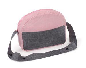 Puppen-Wickeltasche für Puppenwagen Melange grau-rosa