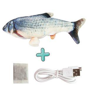 Elektrisches USB-Floppy Moving Fish-Katzenspielzeug, realistische Plüschsimulation für Katzen@#H03