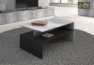 """Couchtisch """"Baros"""" Wohnzimmertisch 100x60cm beton schwarz"""