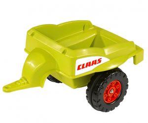 BIG - Claas-Celtis Loader mit Trailer, Traktor mit Anhänger für Kinder von 3 bis 6 Jahren bis 50 kg, grün