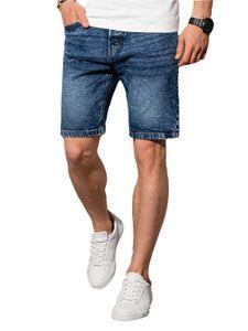Ombre Jeans-Shorts, einfache Shorts für Jeans, Bermuda, Jeans, kurze Jeans, lässig, sportlich, bequem, kurze Hose mit Taschen, Jeanshose, S-XXL Blau XL