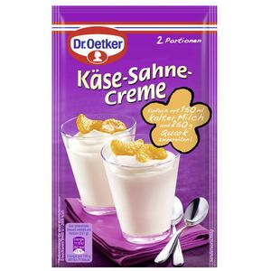 Dr. Oetker Käse Sahne Creme Desserts nach Tortenart 2 Portionen 63g
