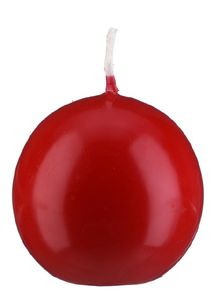Kugelkerzen Klarlack - hochglänzend Rot Ø 15 cm, 2 Stück, gelackte Kerzen, exclusive besondere Kerz