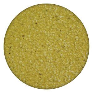 Einfarbiger Teppich Eton für Zimmer, Wohnzimmer, Schlafzimmer, Teppichboden Auslegware, Verschiedene Größen Gelb Kreis 170 cm