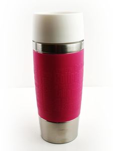 Emsa Travel Mug Thermobecher White Edition Himbeere 0,36 Liter