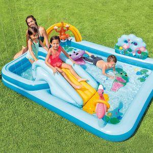 INTEX 57161NP Playcenter 'Jungle Adventure'  Planschbecken (256x216x84cm) Garten Kinder