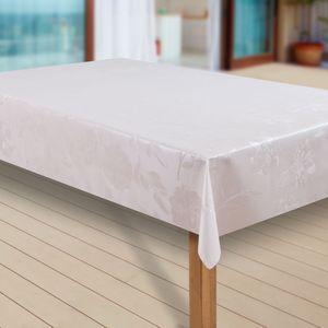 Wachstuch-Tischdecke Wachstischdecke Tischwäsche Abwaschbar Wachstuchdecke, Muster:Dhalia Creme, Größe:90x90 cm