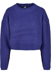 Urban Classics Damen Pullover Ladies Wide Oversize Sweater Bluepurple-M