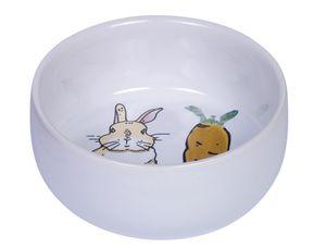 "Nobby Nager Keramik Napf ""Carrot Plus"" weiß Ø 11cm x 4,5 cm, 73753"