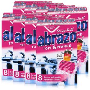 abrazo Topf & Pfanne Reinigungskissen - Die rosa Kraft (8er Pack)