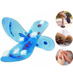 Magnetische Einlegesohlen Orthopädische Gel Akupressur Massage Sohlen Blau