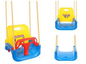 Kinderschaukel 3in1 zum Aufhängen Rückenlehne Anschnallgurt 9918
