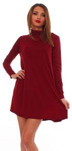 65-10 Japan Style von Mississhop Damen Longshirt Kleid Pulli Tunika Bordo M