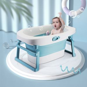 Babybadewanne ,faltbare Babywanne, Badewanne für Baby, Kunststoff Blau