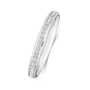 Platin 950 2,2mm Halb Eternity Damen - Diamant Trauring/Ehering/Hochzeitsring Brillant-Schliff 0.22 Karat G - SI1, 55 (17.5); WJS2026PT950