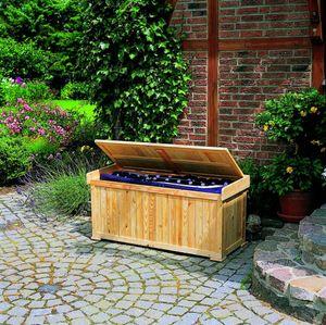 Kissenbank mit Auflage Sitztmöbel Kissenbox Holz Gartenmöbel