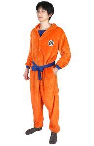 """Dragon Ball Kigurumi   Son Goku Pyjama mit """"Go"""" Schriftzeichen   Orange   Größe: M"""
