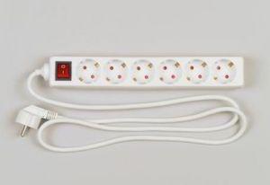 REV Tischsteckdose 6-fach 1,4 m mit Schalter weiss