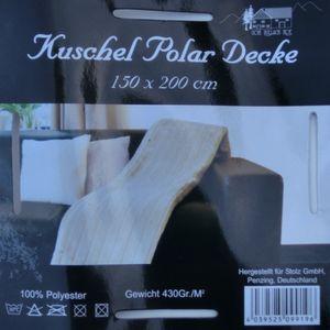 Wohndecke Polar Kuscheldecke weiß 150 x 200 cm