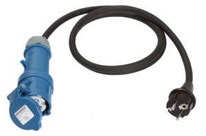 as - Schwabe 60486 Adapterleitung 1,5m, schwarz, 1,5m H07RN-F 3G2,5