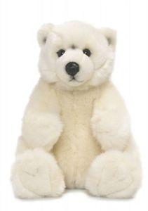 WWF Plüschtier Eisbär (sitzend, 22cm) lebensecht Kuscheltier Stofftier