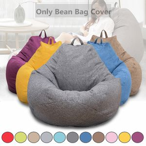 MECO Klassischer Sitzsackbezug Baumwolle Bezug für Sitzsack Faulenz-Liege für Erwachsene und Kinder, ohne Füllung, Grau 80x90cm