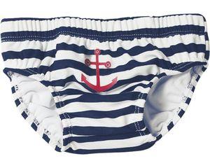Playshoes Badewindel UV-Schutz Windelhose Maritim marine/weiß Baby 460110-171, Farbe Playshoes:marine/weiß, Größe Playshoes:74/80