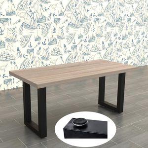 2er Set Tischgestell Schwarz 70x72 cm Tischuntergestell Tischkufen Tischbeine
