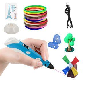 karpal 3D Stift Druckerstift Pen set Printing Pen 3D Druckstift 12 Farben PLA Filament