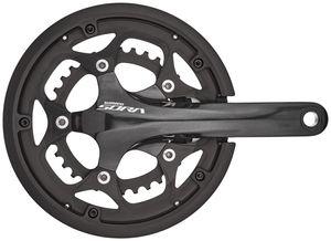 Shimano Sora FC-R3000 Kurbelgarnitur 2x9-fach 50-34 Zähne mit Kettenschutzring schwarz Kurbelarmlänge 175mm