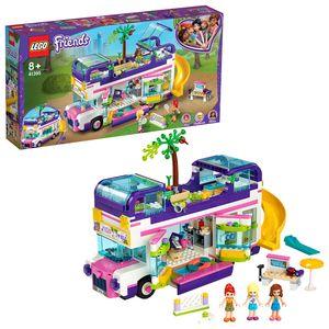 LEGO 41395 Friends Freundschaftsbus mit Bordpool und Rutsche, Sommerferien-Spielsets für Kinder ab 8 Jahren