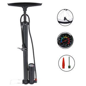 HOCHDRUCK Fahrradpumpe für alle Ventile Sport Luftpumpe Standpumpe inklusive Manometer Fußpumpe Pumpe