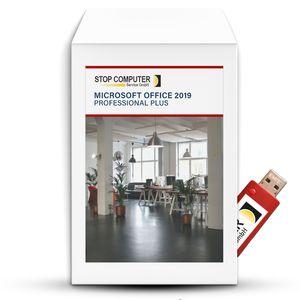 Microsoft Office 2019 Professional Plus auf 16 GB USB-3.0-Stick von STOP Computer Service GmbH©, mit Anleitung und Aktivierungsschlüssel