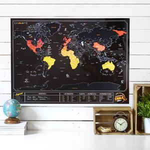 Original Luckies Scratch Map Chalk Ausgabe zum kratzen, 59.4 x 82.5cm