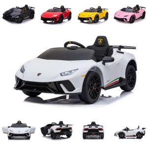 Chipolino Kinder Elektroauto Lamborghini Huracan, Fernbedienung, Musikfunktion weiß