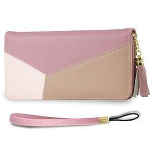 Geldbörse Damen mit RFID Schutz- Geldbeutel groß, Portemonnaie lang, Portmonee, Brieftasche, Damengeldbeutel, Damenbörse, Damengeldbörse, Damenportemonnaie, Wallet Geschenk- Pink