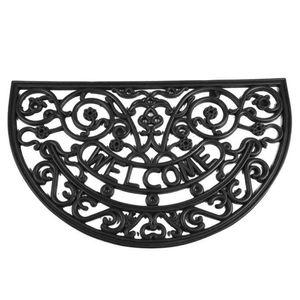 Siena Garden RUBBERH/R Gummimatte Antik halbrund 45x75 cm, schwarz