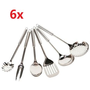 Küchenbesteck Küchenhelfer Hängeleiste Küchenutensilien Kochzubehör Set 6 tlg